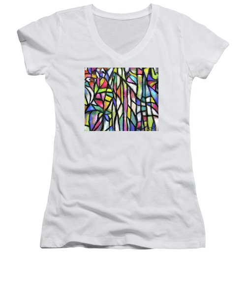 Abstract Forest Women's V-Neck