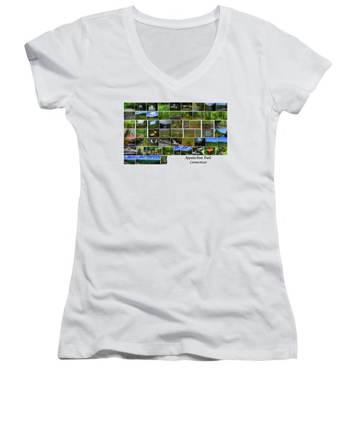 Women's V-Neck (Athletic Fit) featuring the photograph Appalachian Trail Connecticut by Raymond Salani III