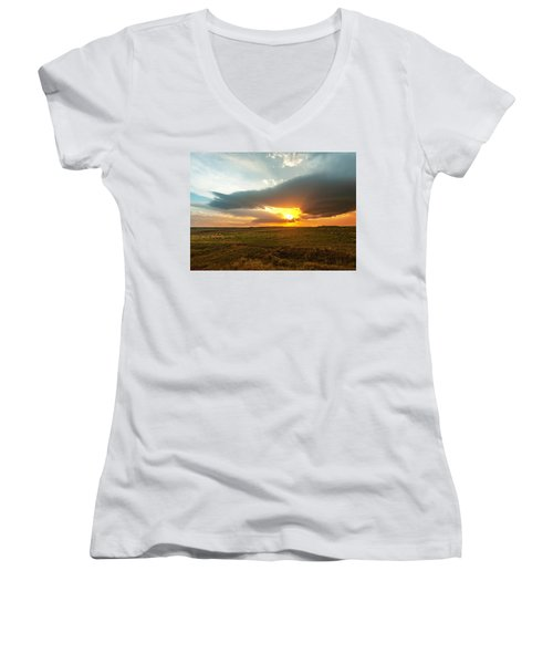 As The Sun Is Setting Women's V-Neck