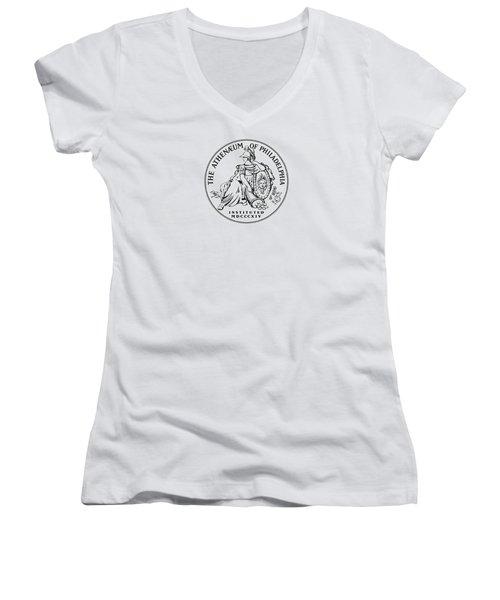 Athenaeum Of Philadelphia Logo Women's V-Neck