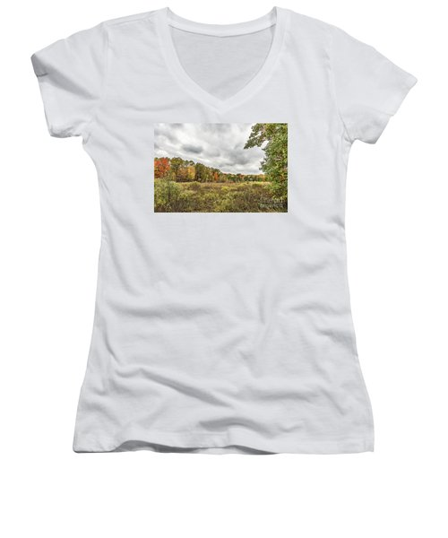 Autumn Has Been Found In Michigan Women's V-Neck