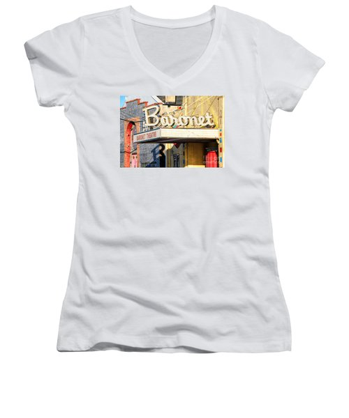 Baronet Theater Asbury Park New Jersey 1913 Demolished In 2010 Women's V-Neck