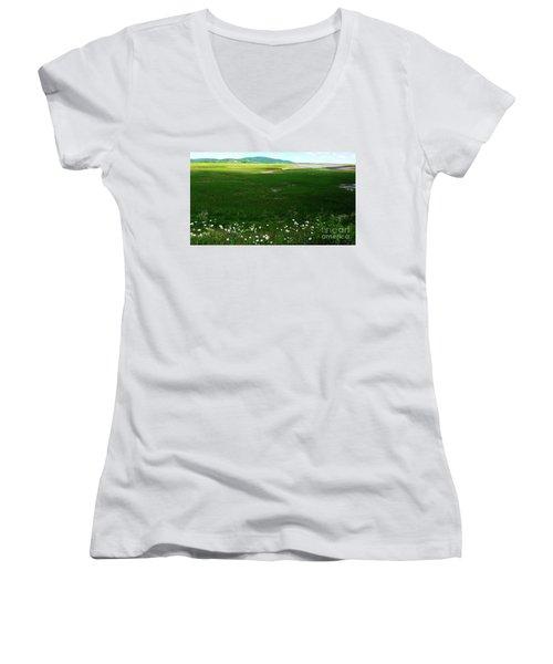 Bay Of Fundy Landscape Women's V-Neck