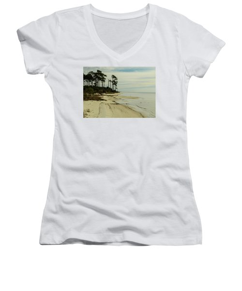Beach And Trees Women's V-Neck