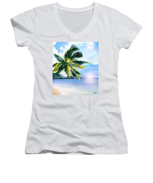 Beach Scene Women's V-Neck