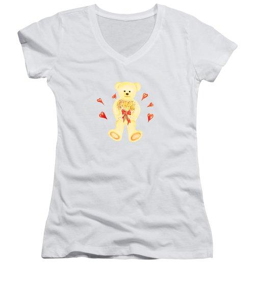 Bear In Love Women's V-Neck