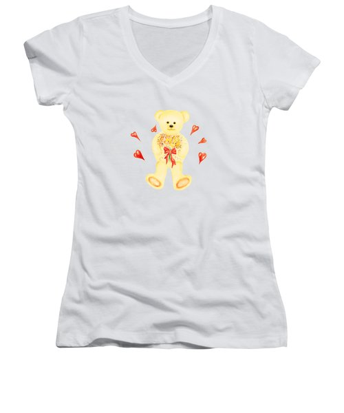 Bear In Love Women's V-Neck
