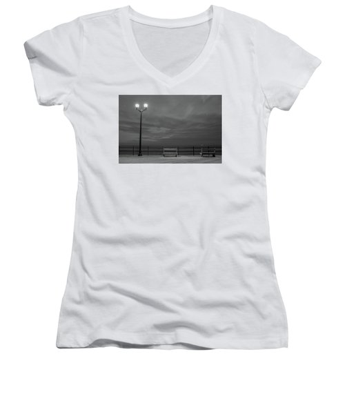 Before Dawn On The Boards Women's V-Neck