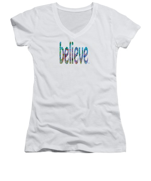 Believe 1001 Women's V-Neck