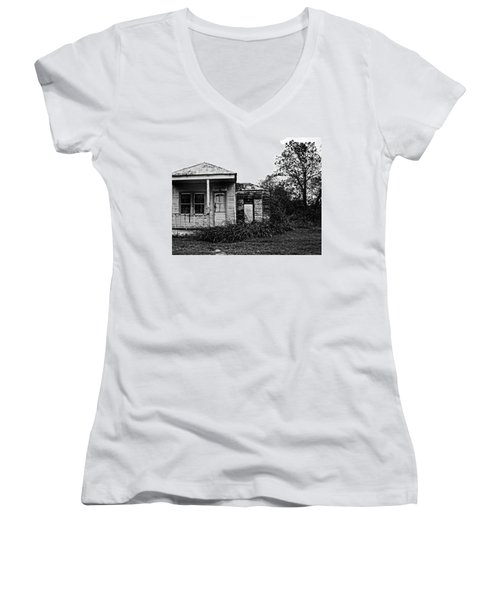 Black And White Architecture, 2 Women's V-Neck (Athletic Fit)