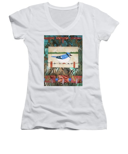Blue Bird Women's V-Neck