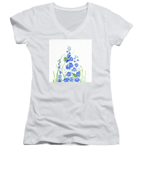 Blue Larkspur  Women's V-Neck