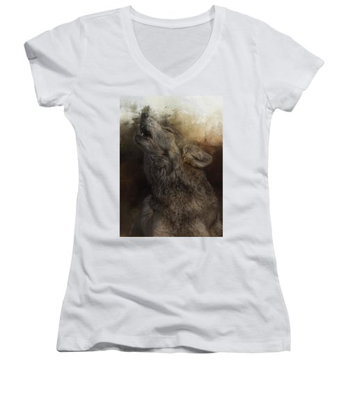 Call Of The Wild Women's V-Neck