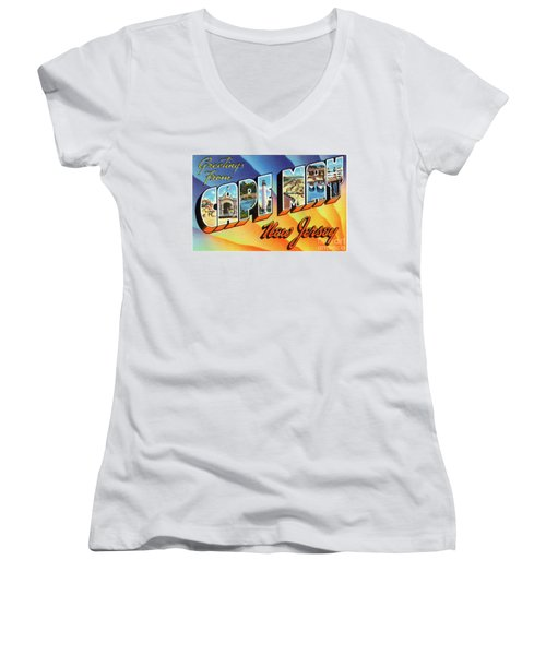 Cape May Greetings - Version 1 Women's V-Neck