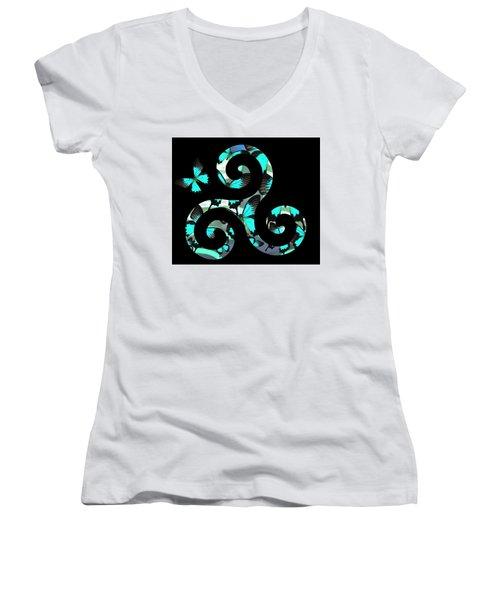 Celtic Spiral 3 Women's V-Neck