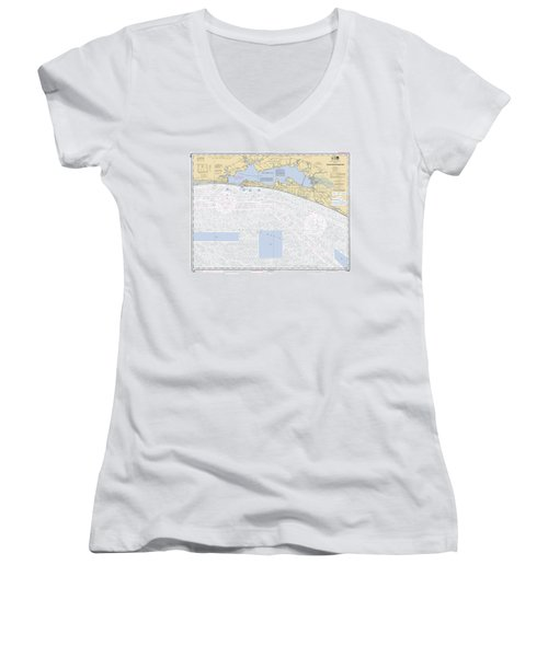 Choctawhatchee Bay Noaa Chart 11388 Women's V-Neck