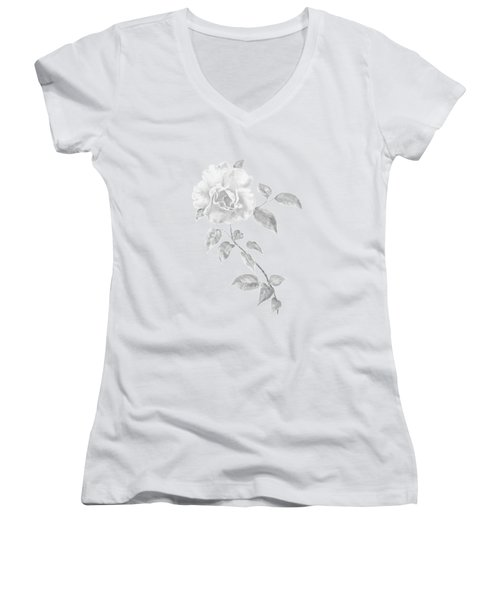 Climbing Rose II Women's V-Neck