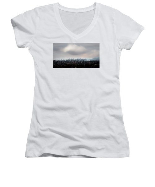 Cloud On Vancouver  Women's V-Neck