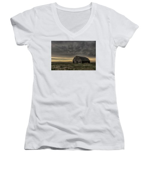 Clouds And Barn Women's V-Neck