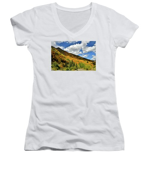 Color In The Spotlight At Red Mountain Pass Women's V-Neck