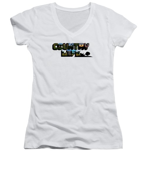 Country Life Big Letter Women's V-Neck