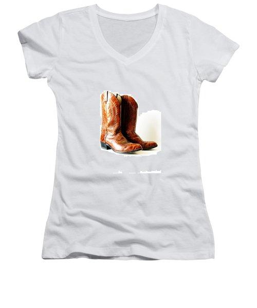Cowboy Boots Women's V-Neck