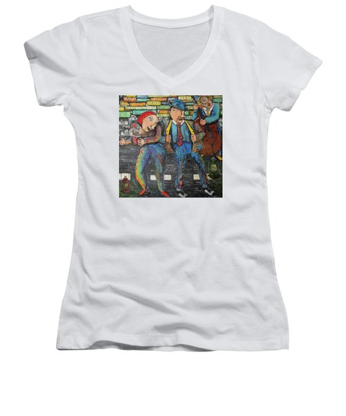 Dancing In The Street Women's V-Neck