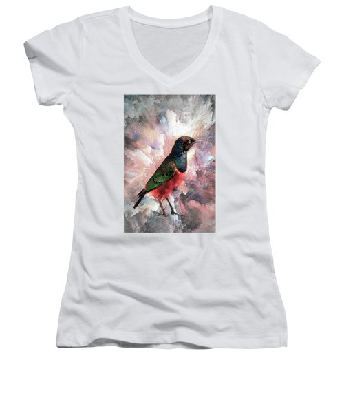 Desaturated Starling Women's V-Neck