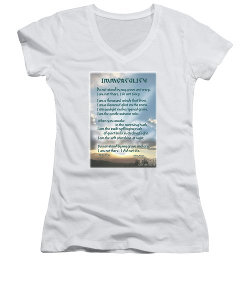 Do Not Stand At My Grave And Weep Women's V-Neck