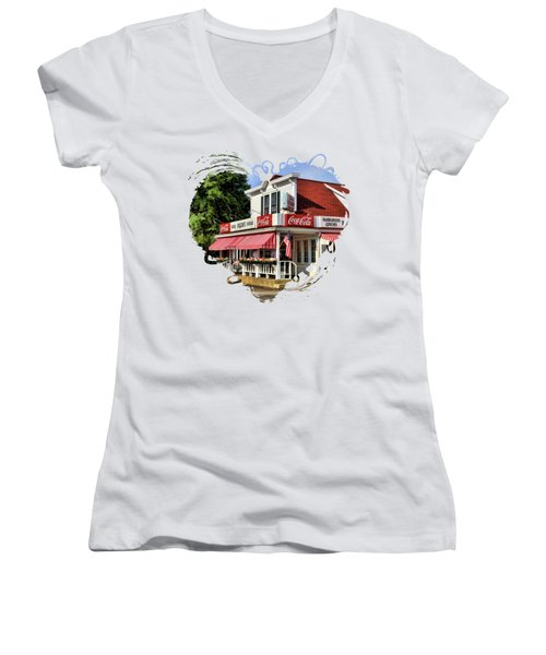 Door County Wilson's Ice Cream Store Women's V-Neck
