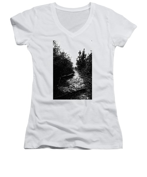Down The Trail Women's V-Neck (Athletic Fit)