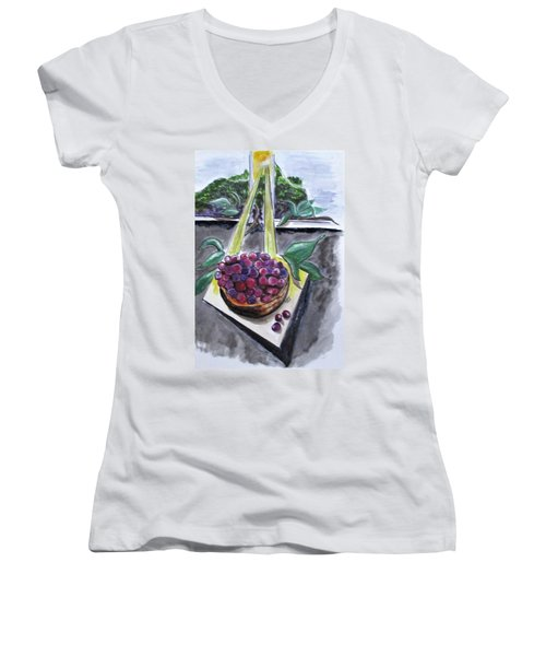 Dreams Of Grapes Women's V-Neck