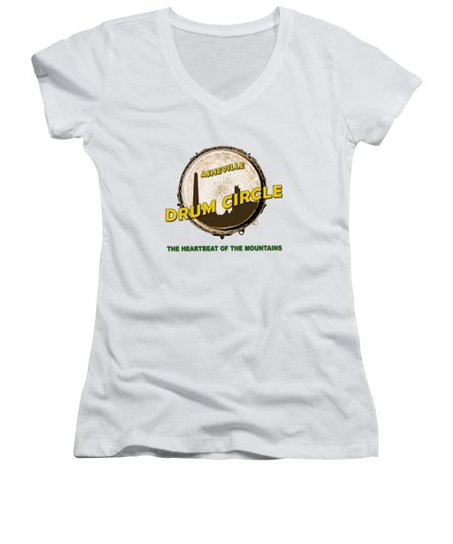 Drum Circle Logo Women's V-Neck