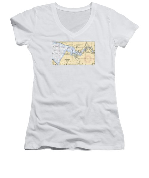 East Bay Extension Noaa Chart 11385_5 Women's V-Neck