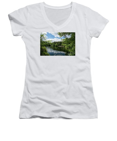 Euchee Creek Park - Grovetown Trails Near Augusta Ga 2 Women's V-Neck
