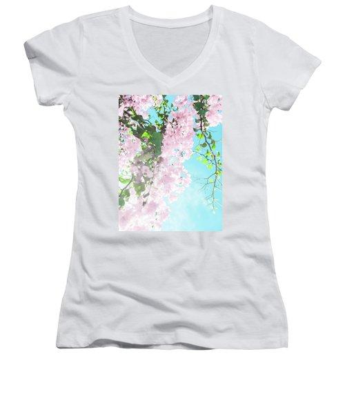 Floral Dreams IIi Women's V-Neck