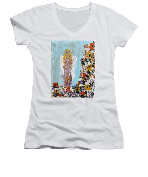 Flower Child Angel Women's V-Neck