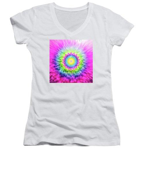 Flowering Mandala Women's V-Neck