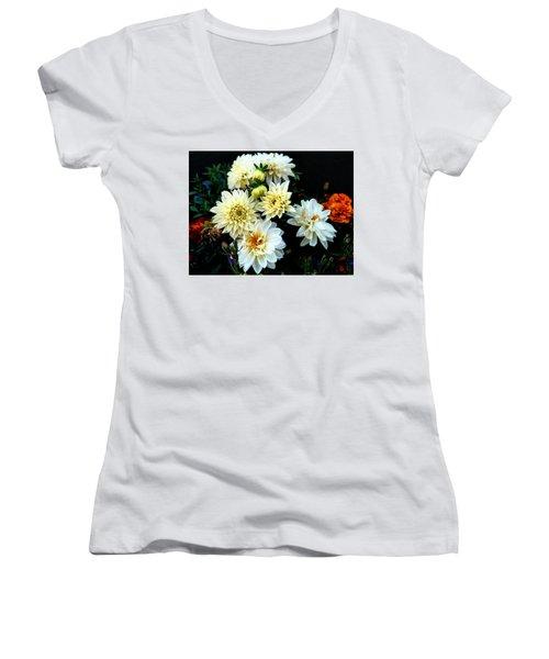 Flowers In The Garden Women's V-Neck