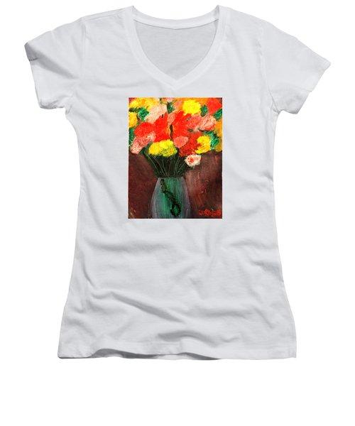 Flowers Still Life Women's V-Neck
