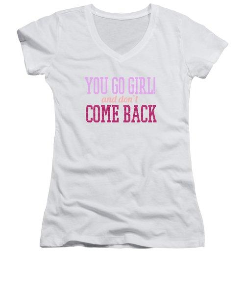 Go Girl Women's V-Neck