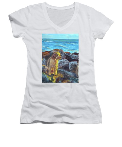 Golden Dog Women's V-Neck