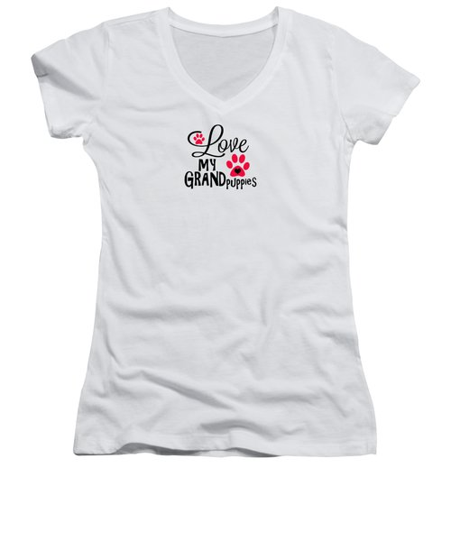 Great Dog Gifts And Ideas Love My Grandpuppies Women's V-Neck