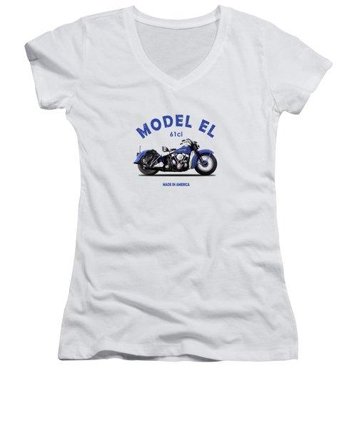 Harley-davidson El 1948 Women's V-Neck