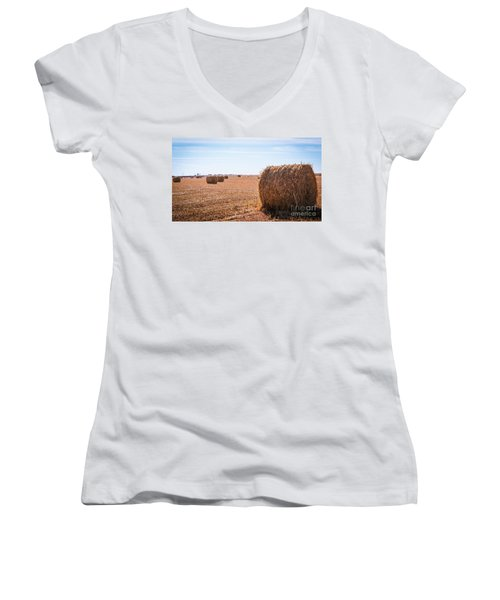 Hay Rolls Women's V-Neck