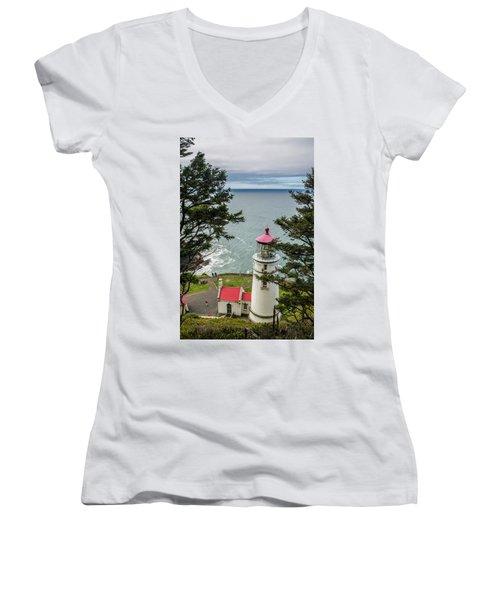 Heceta Head Lighthouse Women's V-Neck