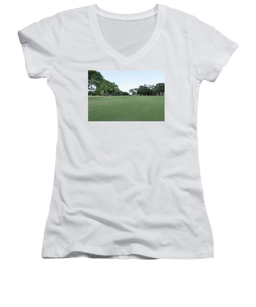 Hole #13 Women's V-Neck (Athletic Fit)