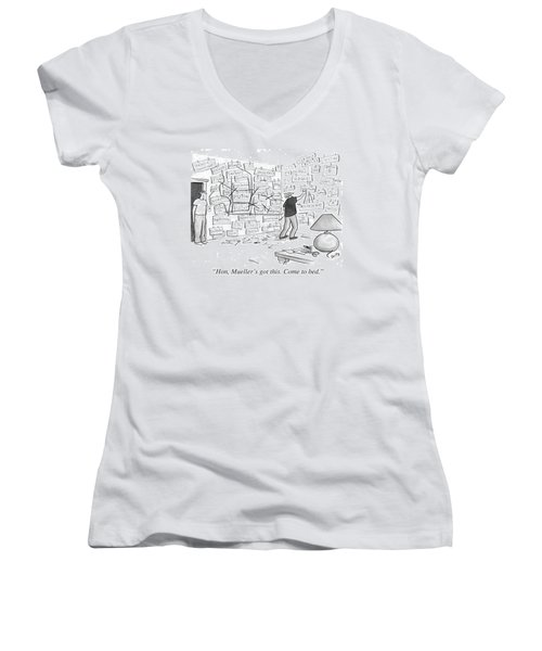 Hon, Mueller's Got This. Come To Bed. Women's V-Neck