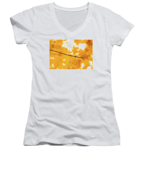 Honey Colored Happiness Women's V-Neck
