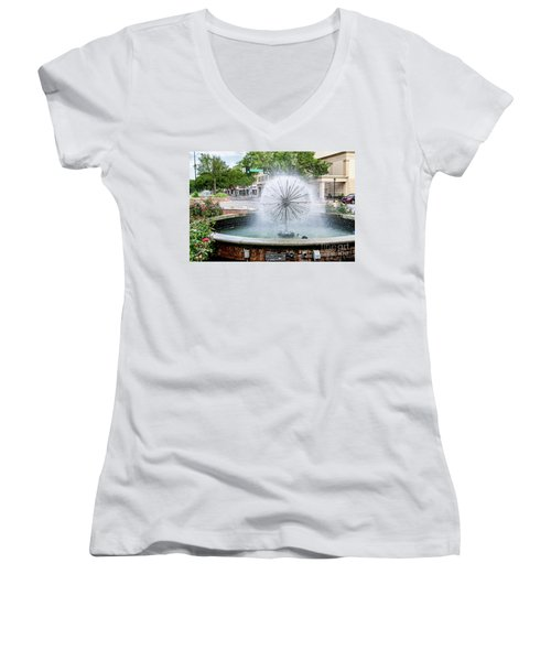 James Brown Blvd Fountain - Augusta Ga Women's V-Neck
